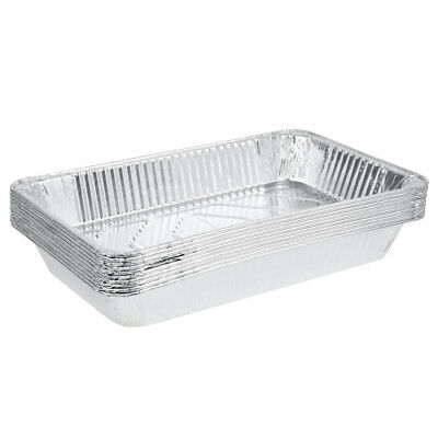"Full Size 3 3/8"" Deep Disposable Aluminum Foil Steam Table Pan - 50 / Case"