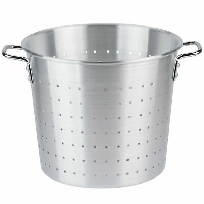 20 Qt. NEW Round Silver Tapered Aluminum Vegetable Colander