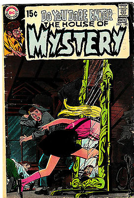 HOUSE OF MYSTERY #182 (VG+) Vintage Neal Adams Cover! Cool Horror! 1972 DC