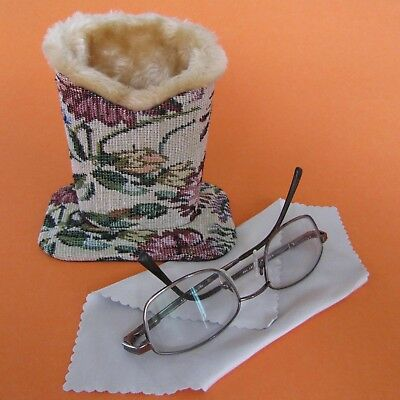 Tapestry Design Plush Eyeglass Stand Holder with Cleaning Cloth*