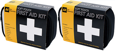 2 Pack AA First Aid Kit Emergency Medical Bag Home Travel Car Boat Holiday Case