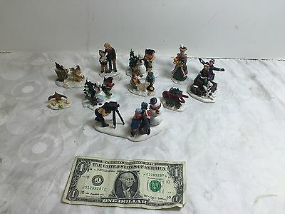 Lot of 10 Christmas figures and accessories