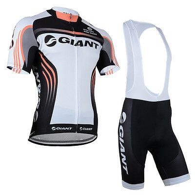 Summer Bike Rider Men's Cycling Clothing Suit Bicycle Jersey +Bib Short Set