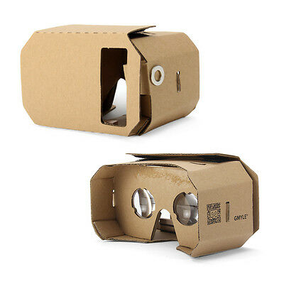 Google Cardboard, GMYLE 3D VR Viewer Virtual Reality DIY Headset Glasses