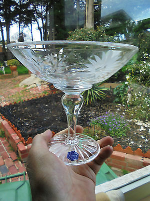 Vintage Hand Cut English Stuart Crystal Comport Daisy Pattern