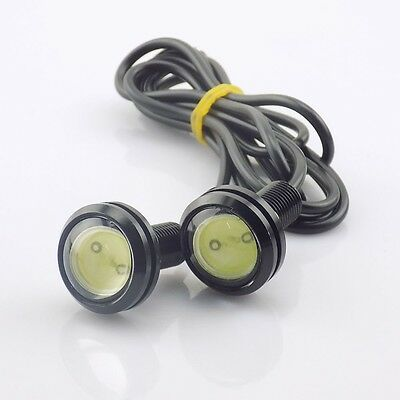 Kit 2 luci diurne daylight fissaggio con foro luce led for Luci diurne a led