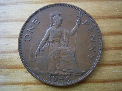 1946   george v1   penny  collectable