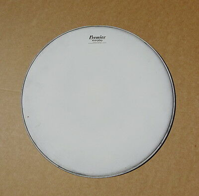 "Vintage Premier ""Everplay"" White Coated Drum Head 16"" (NOS)"