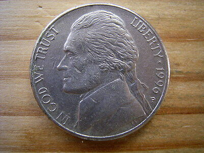 1996p  usa 5 cent  nickel coin collectable