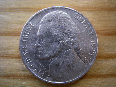 1998p  usa 5 cent  nickel coin collectable