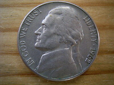 1962d  usa 5 cent  nickel coin collectable