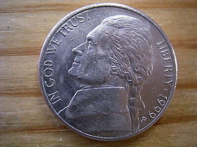 1999p  usa 5 cent  nickel coin collectable