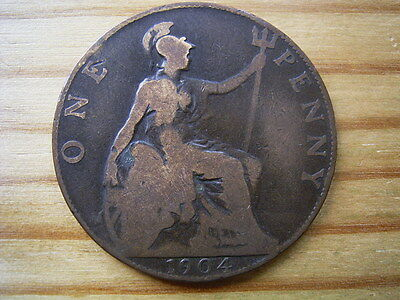 1904  edward v11   penny  collectable