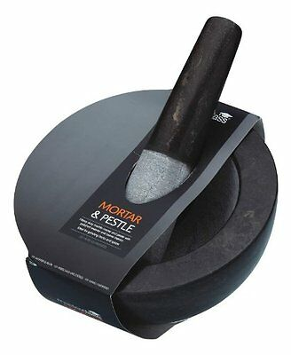 Master Class Large Marble Pestle and Mortar, 20 x 12 cm  8  x 4.5   - Black   Gr