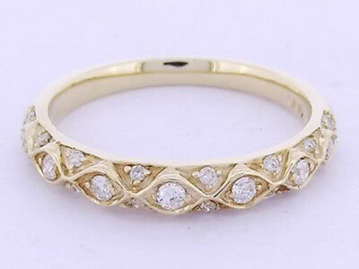 R084 Genuine 9ct SOLID Yelow Gold NATURAL Diamond ETERNITY Wedding Ring
