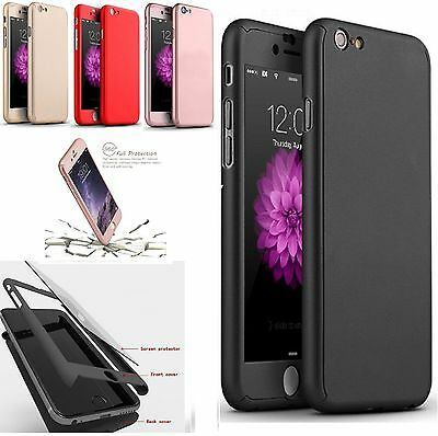 Luxury Armor Slim 360 Full protection Skin Cover Case For iPhone 7 5s 6 6s Plus