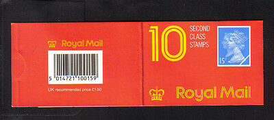 1990  jc1  booklet (penny black anniversary) 10x2nd class mnh