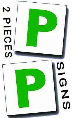 2 Pcs Magnetic New Driver Plate Exterior Car P Secure Safe Exterior Signs New