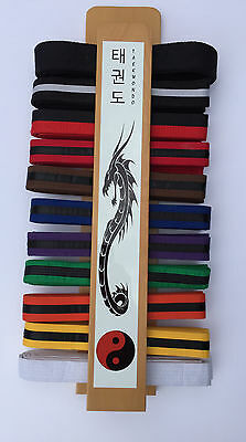 Martial Arts Taekwondo Belt Display Rack Black Dragon and Clear Coat Finish