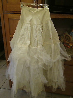 Antique Vintage Woman's Full Slip with Lace