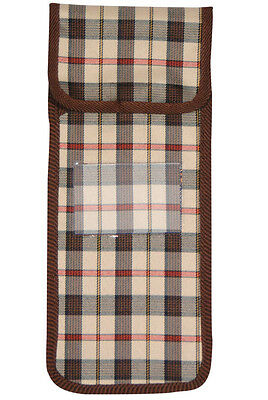 Brown Check Pouch for Folding Walking Sticks