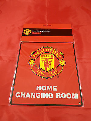 Manchester United FC Metal ''Changing Room'' Sign - Official Merchandise