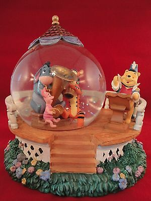 Disney Winnie the Pooh and Friends Orchestra Musical Band Snow Globe