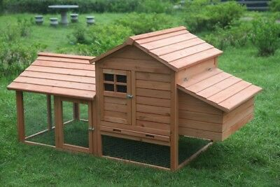 XL Brand New Large Chicken Coop Rabbit Guinea Pig Hutch Ferret Hen Cage House