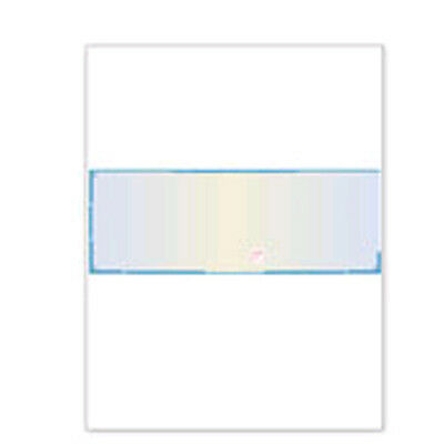 Blank Check Paper High Security Blue with visible fibers 1500 sheets Form 1001