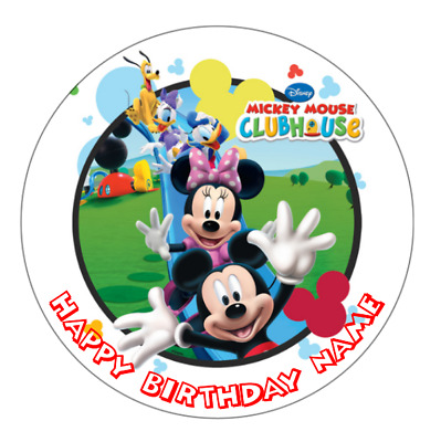 Mickey Mouse Clubhouse Personalised Edible Party Cake Decoration Topper Image