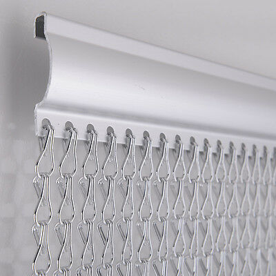 Aluminium Metal Chain Fly Pest Insect Door Screen Curtain Control SILVER or Gold