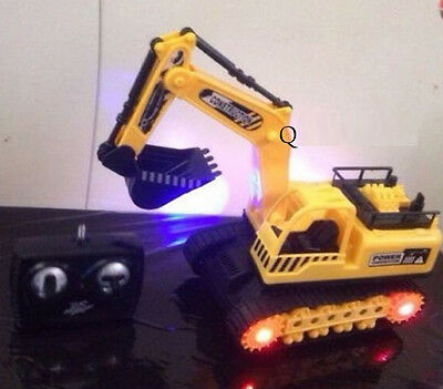 RC Remote Control Construction Engineering Machine Digger Power Truck With Light