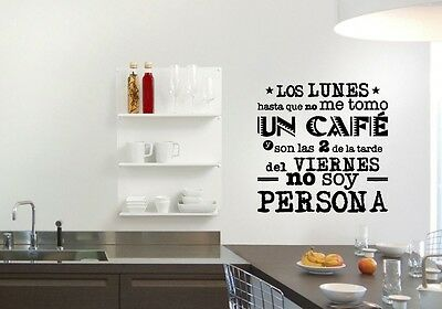 Vinilo decorativo frases para cocina stickers pegatinas for Pegatinas frases pared