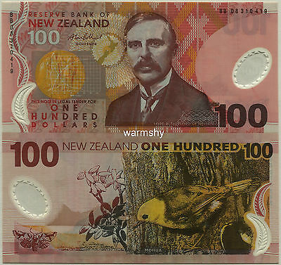 New Zealand  2008 Polymer Banknotes 100 Dollars UNC