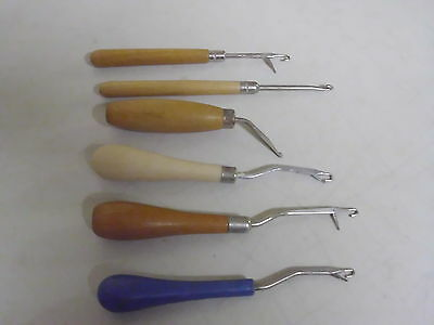 Lot Of 6 Rug Hookers Or Punching Needles