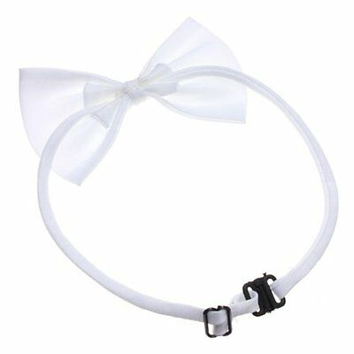 5x(Cat Collar pet Dog Bow Tie Puppy Accessory Cute White BF