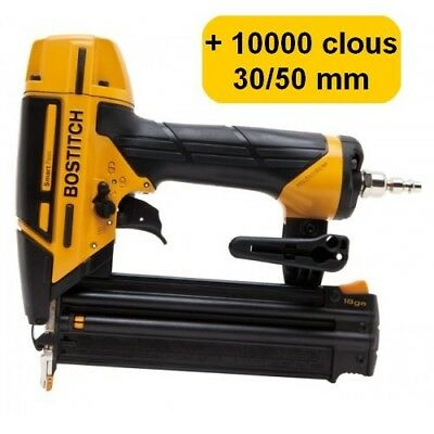 BOSTITCH BT1855SP-E CLOUEUR DE FINITION + 10000 clous 18GA (5000 clous 30mm + 50