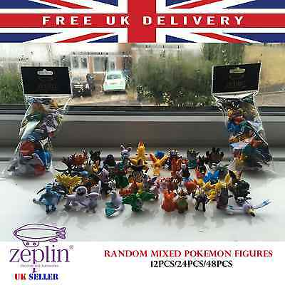 POKEMON GO FIGURES 12 24 48 pcs Random Mixed Lots of Mini Figures Collection TOY