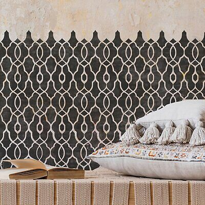 KASBAH Moroccan Trellis Stencil - Furniture Wall Floor Stencil for Painting