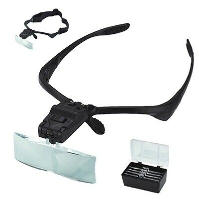 Magnifying Glasses with 2 LED Lights and 5 Lenses of 1 - 3.5X