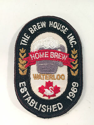The Brew House Inc Patch Waterloo Ontario Home Brew Authentic Vintage Unknown