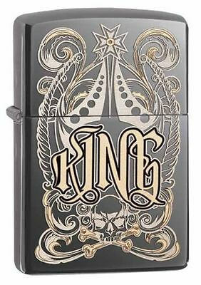 Zippo Windproof Laser Engraved King Lighter, 28798, New In Box