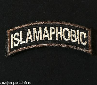 Islamaphobic Army Tab Rocker Tactical Usa Infidel Morale Swat Hook Badge Patch