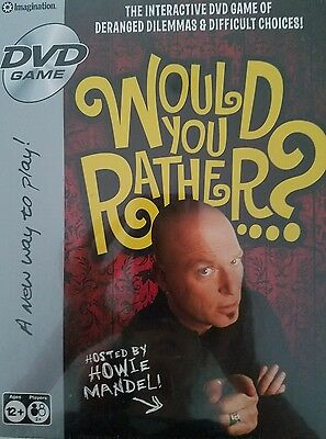 BRAND NEW FACTORY sealed in box nib would you rather DVD game by imagination