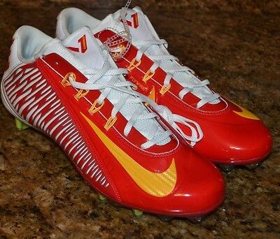 Nike Vapor Carbon Elite 2.0 Low TD Size 11.5 Red/White Football Cleats