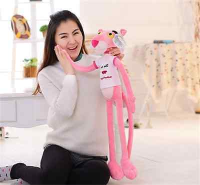 Pink Panther Stuffed Animal 80cm Classic Cartoon Girl Kids Collection Plush Toy