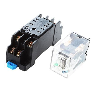 DC 12V Coil 8 Pin General Purpose Relay DPDT HH52P w PYF08A Socket DT