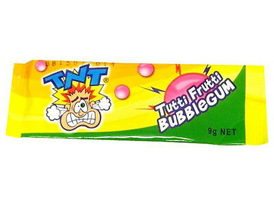 TNT Tutti Frutti Delicious Kids Favorite Tasty Bubblegum - Brand New 2 x Bars