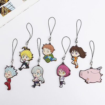 Anime The Seven Deadly Sins Phone Bag Charm Gowther Ban Meliodas Diane King