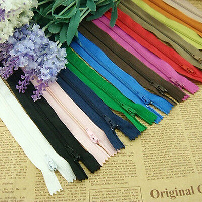50Pcs Dress Upholstery Craft Nylon Metal Closed Open Ended Zips Brand